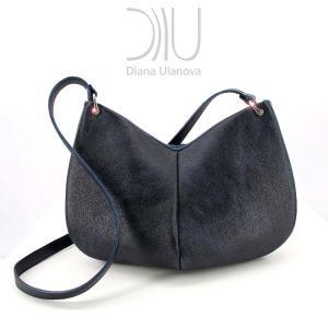 Designer Shoulder Bags For Women. Twist Grey Back by Diana Ulanova. Buy on women-bags.com