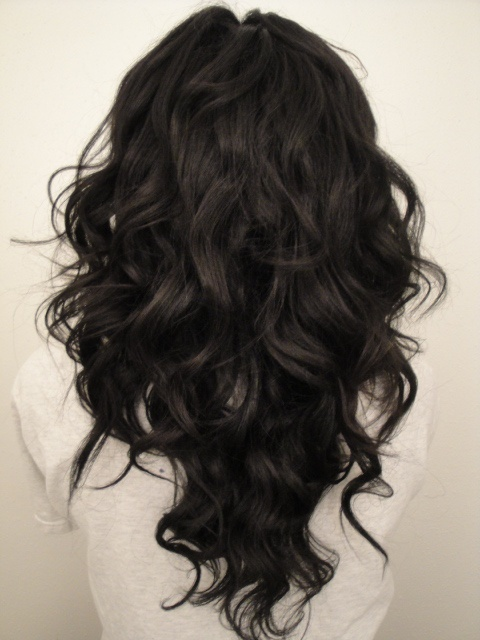 Long Curly Hair V Shape Hair Cut Women Hairstyles