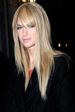 Straight Bangs Hairstyle For Round Face Women Hairstyles