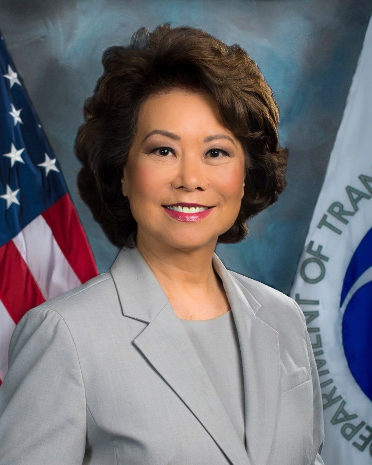 Headshot of Elaine L. Chao, the U.S. Secretary of Transportation.