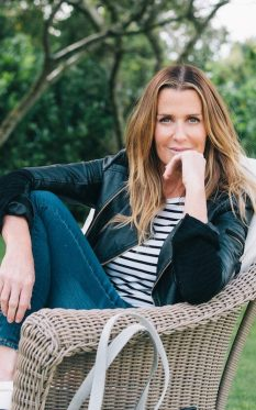 Picture of India Hicks, a British writer, interior designer, television presenter, and former fashion model.