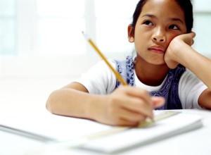 Study school boy writing