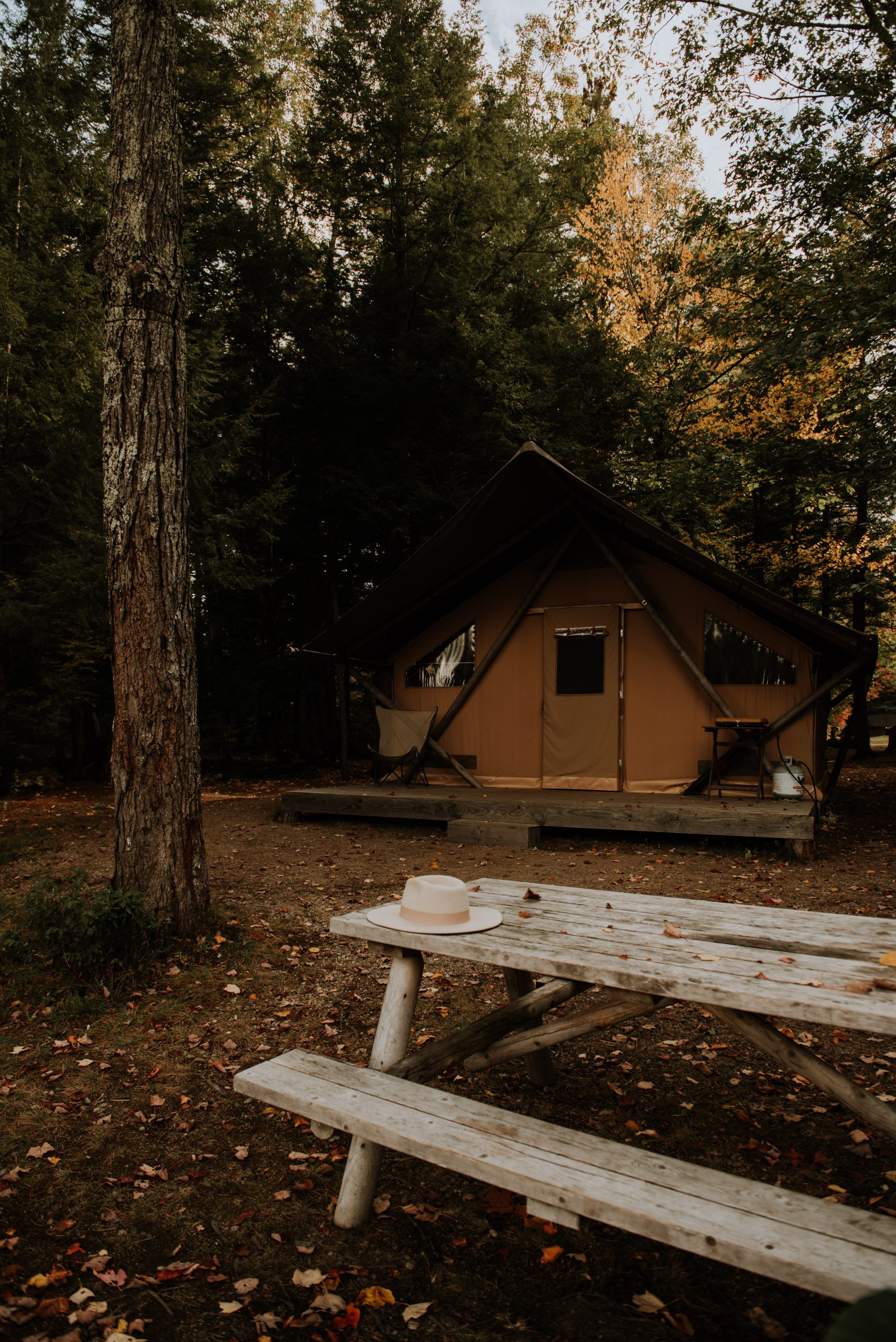 Glamping tent at Huttopia White Mountains