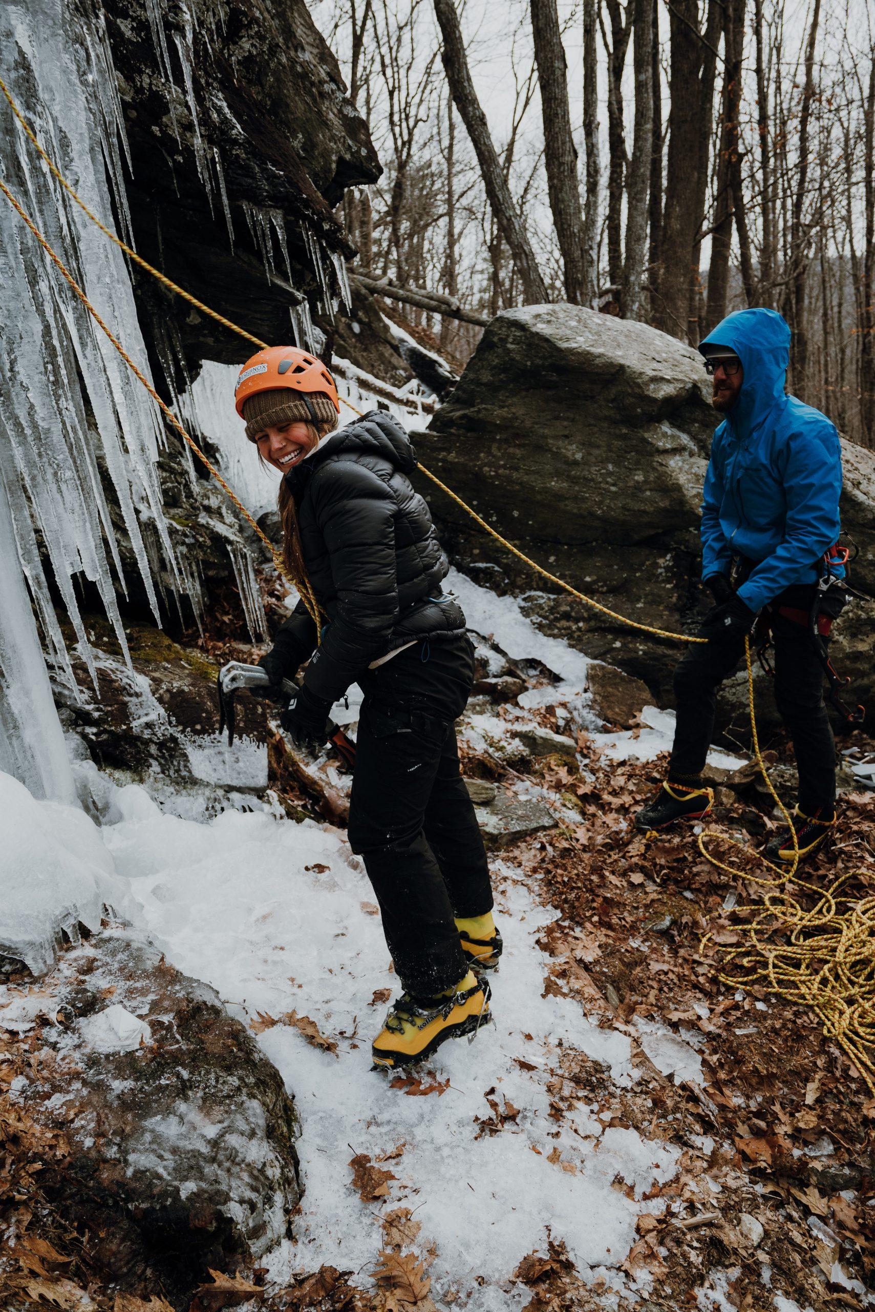 Ice Climbing in Camden Maine