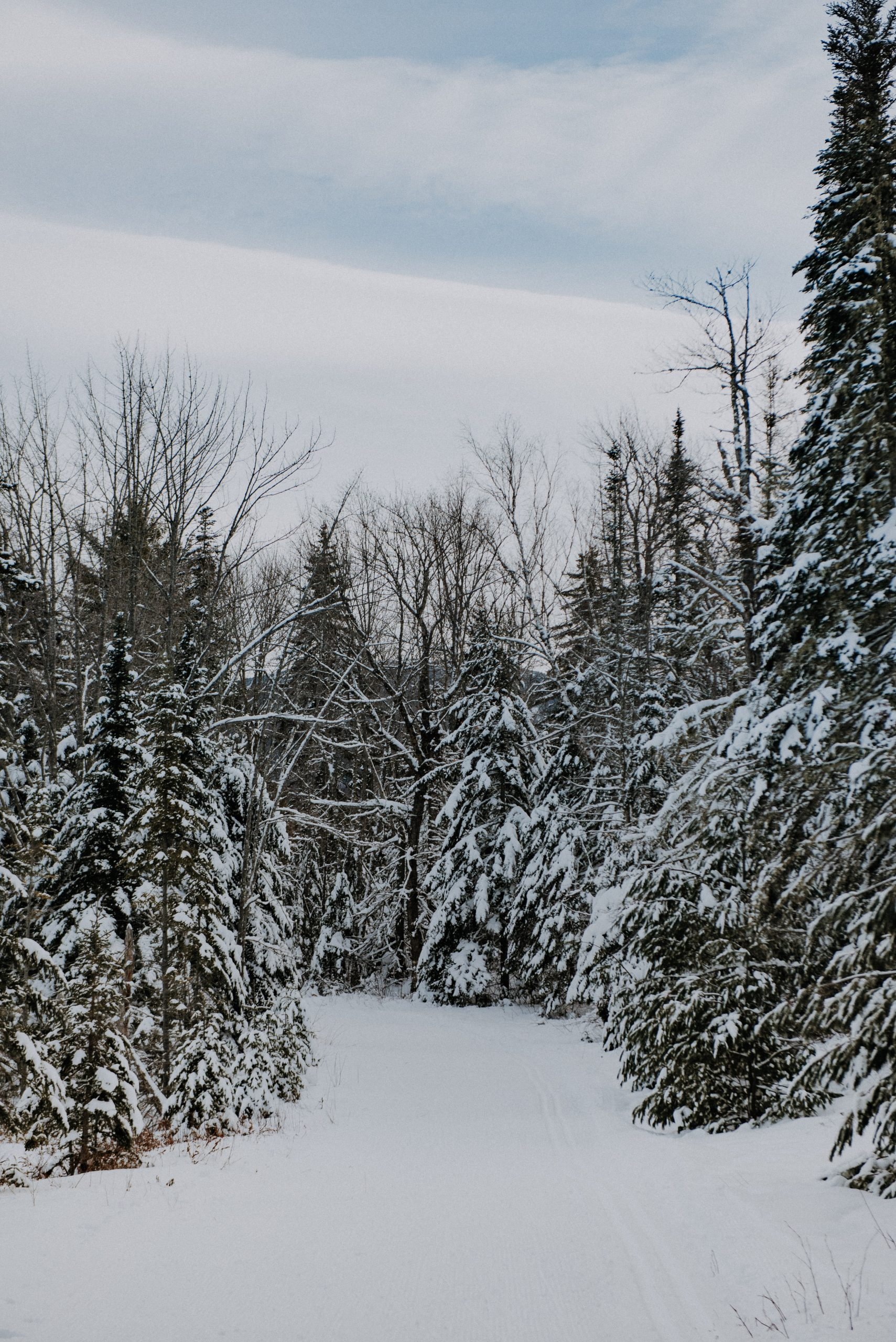 Snowshoeing at Sugarloaf Mountain in Maine