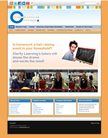 Clarity Learning Home Page