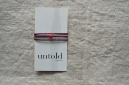 burgundy wrap bracelet - Untold Imprint