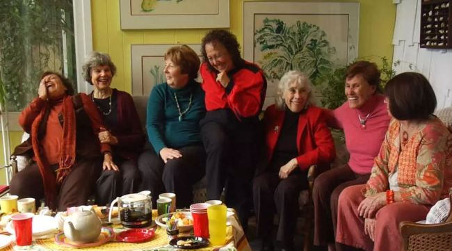 group of older women laughing