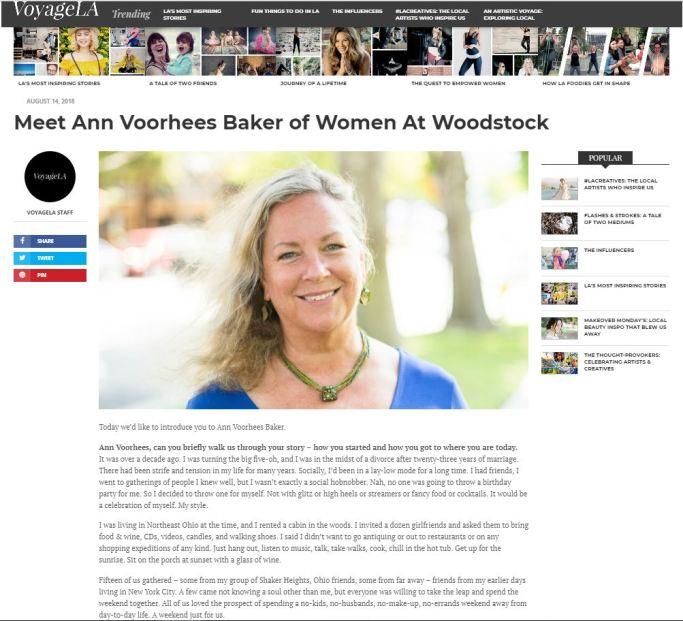 VoyageLA Magazine article on Ann V Baker