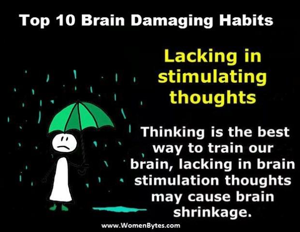 Top Brain Damaging Habits