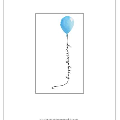 Simple birthday card design