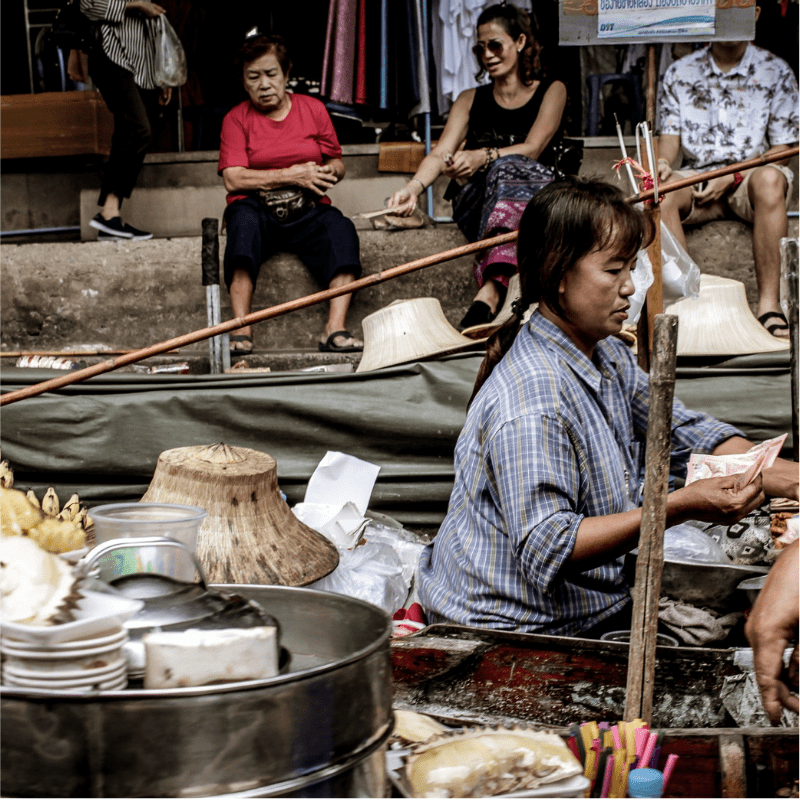 Woman in Thai Market