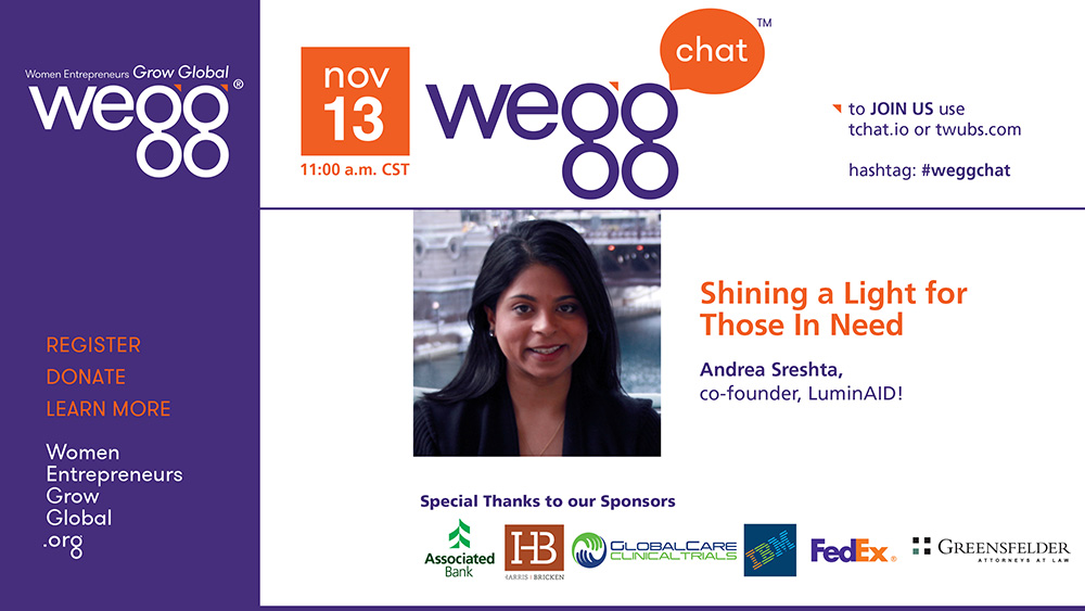 November 13th weggChat with Andrea Sreshta