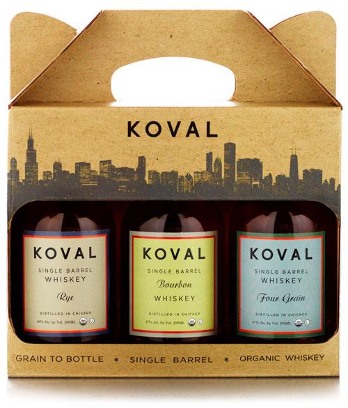 Koval Whiskey gift set