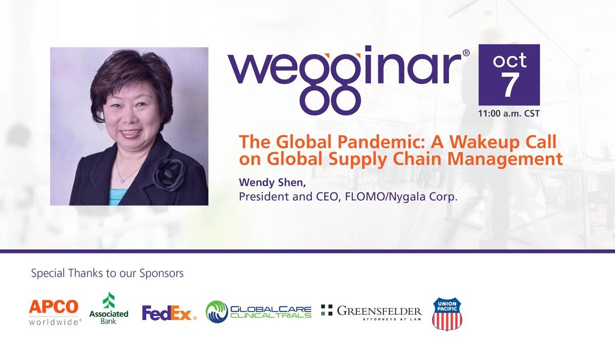 wegginar with Wendy Shen on Oct 7