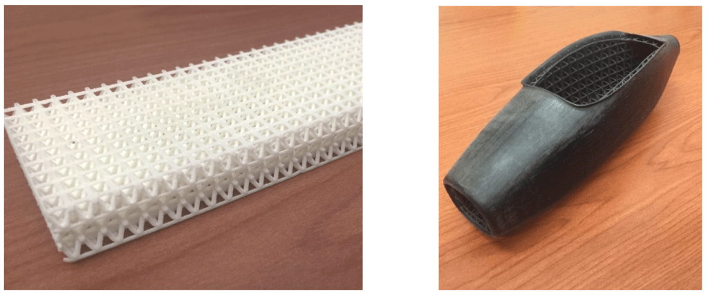 AFRL-3D-printed-lattice-structure-and conformal-lattice-structure-nylon-chopped-carbon-fiber