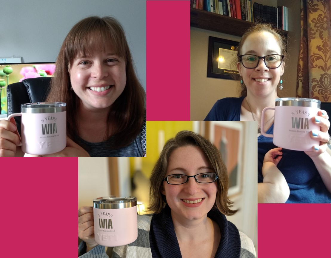 Celebrating our 5 years with super cool WIA mugs!