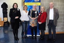 4/3/2016 Pictured at the Women in Irish Film Industry colloquium, held at Mary Immaculate College, Limerick were Stephanie Comey, Broadcasting Authority of Ireland; Anna Serner, Director of Swedish Film Institute; Dr Rosemary Day, Head of Media & Communications, MIC; Dr Annie Doona, Acting Chair of the Irish Film Board & President of IADT and James Hickey, CEO of Irish Film Board. The one day event provided a public forum in which to address the under-representation of women in the Irish film industry. Picture Credit: Gareth Williams / Press 22