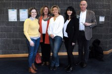 4/3/2016 Pictured at the Women in Irish Film Industry colloquium, held at Mary Immaculate College, Limerick were Alish McElmeel, Deadpan Productions; Lauren Mackenzie, writer of the feature film The Daisy Chain and TV shows such as Fair City , Pure Mule , Bachelors Walk in addition to being story editor on TV3's acclaimed Red Rock; Anna Serner, Director of the Swedish Film Institute; Dr Susan Liddy, event organiser & lecturer in Media & Communications, MIC and James Hickey, CEO of Irish Film Board. The one day event provided a public forum in which to address the under-representation of women in the Irish film industry. According to the Dr Liddy the colloquium provided a space to unpick the many gender specific challenges facing women. It also sent out a strong signal that for solid and lasting change to occur broadcasters and other organisations need to take the Film Board's lead and seriously consider their gender policies. Picture Credit: Gareth Williams / Press 22
