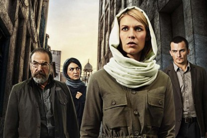 "From left, Mandy Patinkin, Nazanin Boniadi, Claire Danes and Rupert Friend costar in Showtime's ""Homeland"""