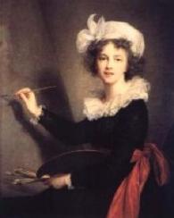 Elisabeth Louise Vigée-Lebrun, Self-Portrait, 1790. Oil on canvas. 39 x 32 inches (99 x 81 cm). Galleria degli Uffizi, Florence, Italy
