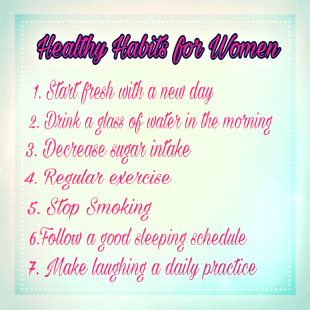 healthy habits for women