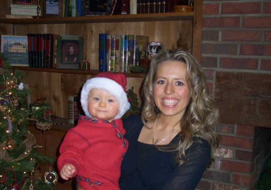 Alex baby at Christmas
