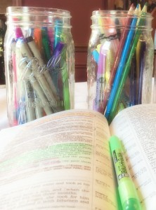 Colored Pencils and Highlighting in Bible