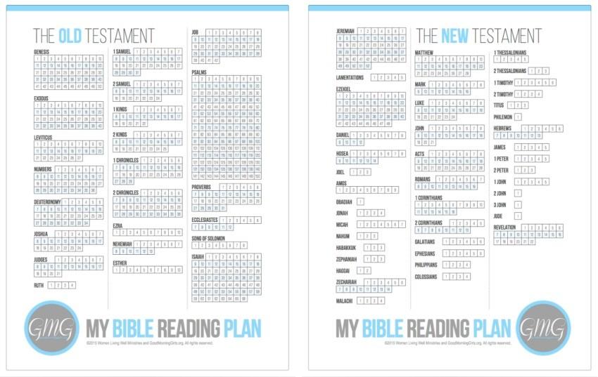 My Bible Reading Plan