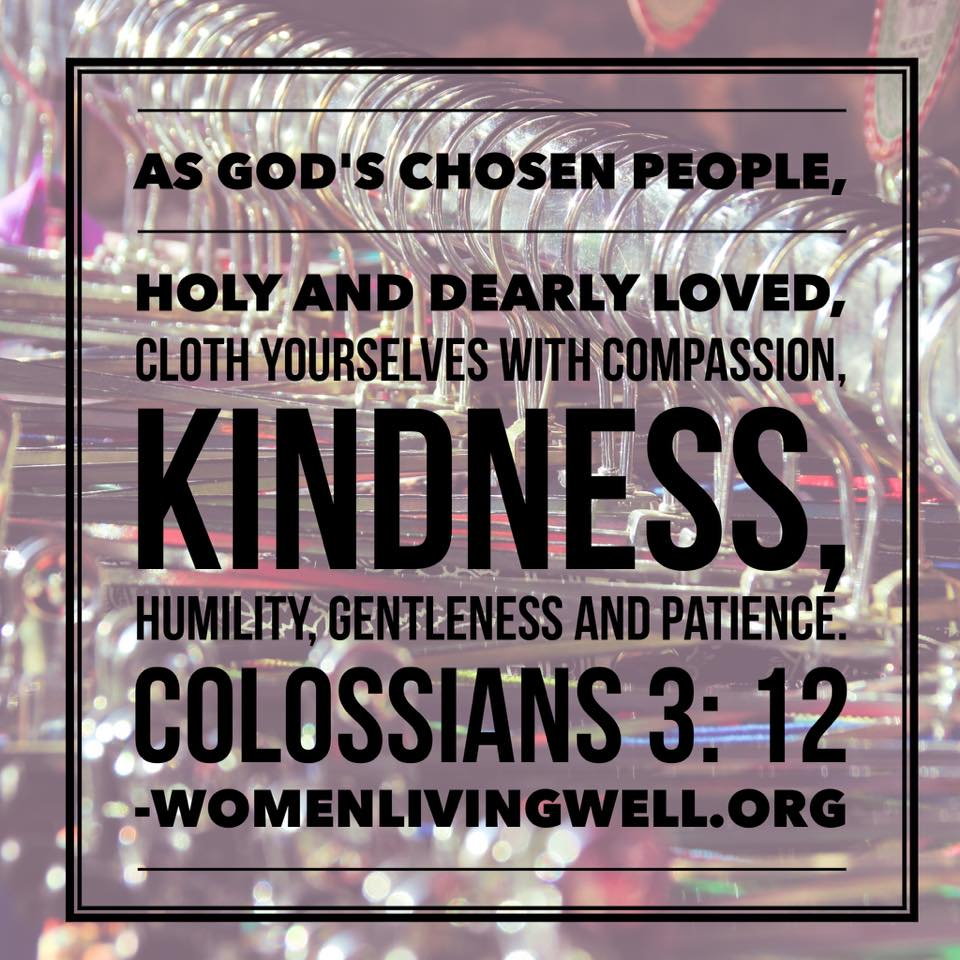 Colossians 3-12 clothe yourselves