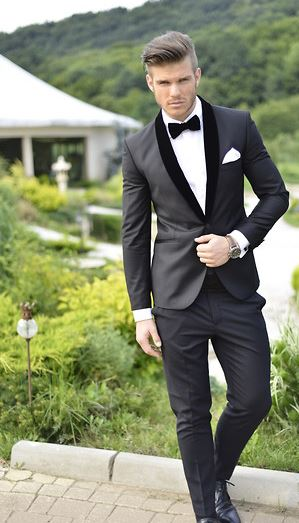White Wedding How to Add More Color to a Traditional Tux Look 1