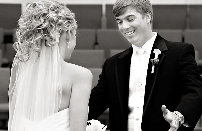 White Wedding How to Add More Color to a Traditional Tux Look 3