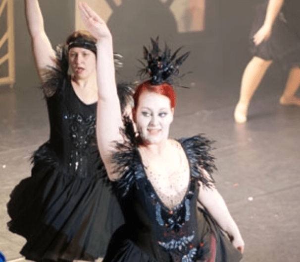 Jessica Bell as the Black Swan