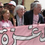 Rachel Corrie parents at a protest event