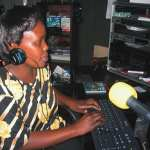 Nairobi, Kenya woman radio journalist