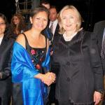 Mu Sochua and Hillary Clinton at Vital Voices awards