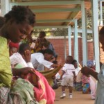 Malawi mothers with their children