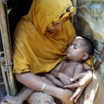 Rohingya mother and child
