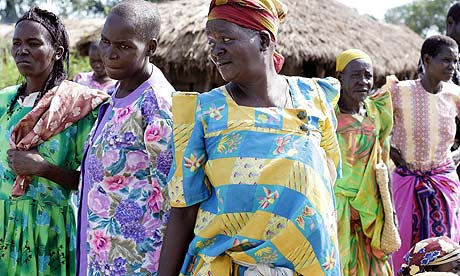 Ugandan women at the market