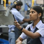 India woman factory worker