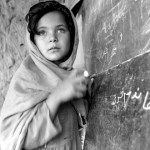Portrait of a young girl from Afghanistan