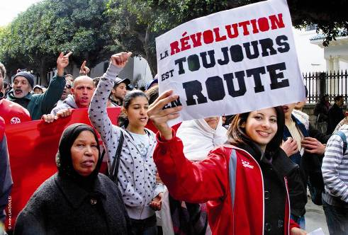 Women protesters in Tunisia and Egypt forge forward for human rights
