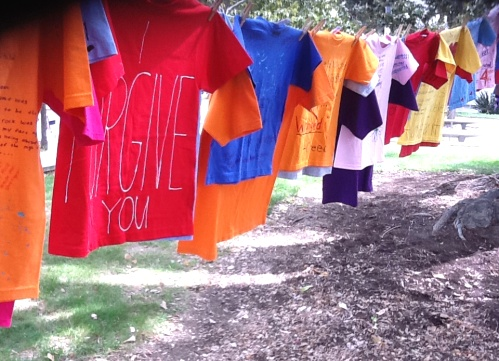 Sexual assault awareness equals The Clothesline Project