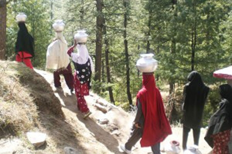 Kashmir women face hardship fetching water under unpredictable climate change