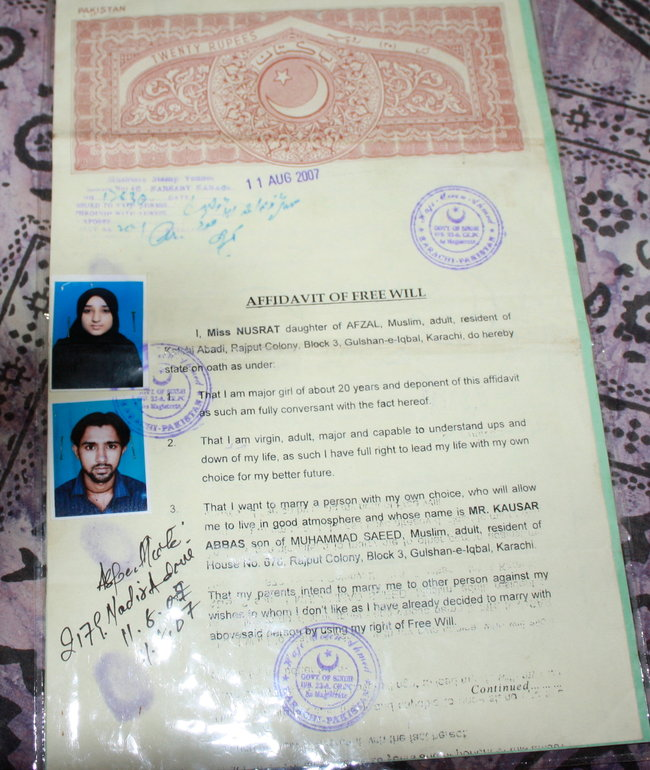 Defying Parents, Some Pakistani Women Risk All to Marry Whom They Choose