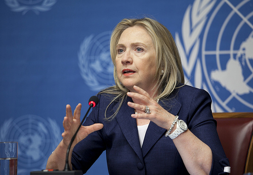 U.S. Sec of State Hillary Clinton eager to get back to work after hospital stay