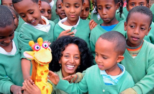 Ethiopian orphans & teens give learning a chance through 'kid inspired' TV