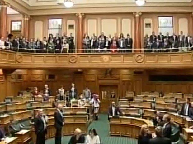 New Zealand lawmakers break into Maori love song as Parliament approves same-sex marriage