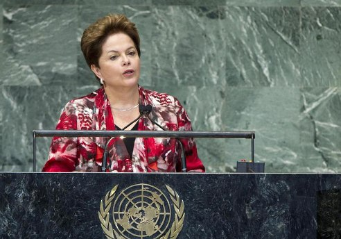 Brazil President Ms. Dilma Rousseff outlines importance of transparency & internet privacy