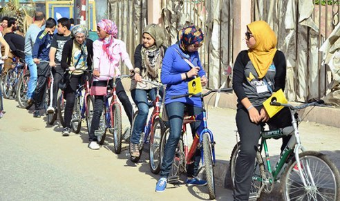 EGYPT: Bike riders campaign works to stop sexual harassment of women